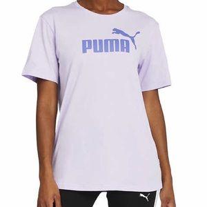 PUMA Boyfriend T-Shirt Purple Crewneck Logo Tee